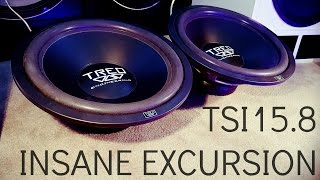 Treo Engineering TSI15.8 Subs - INSANE Free Air Excursion!