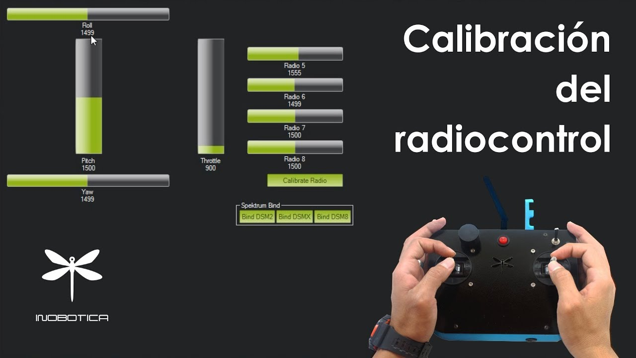 Calibración del radio para dron APM/pixhawk en mission planner