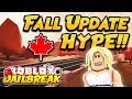 NEW FALL UPDATE HYPE!! 🍁 Roblox Jailbreak  NEW MAP AND STORE CHANGES!!  🔴 ROBLOX LIVE