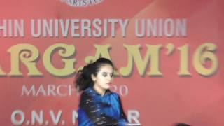 Amazing dance on SARGAM'16(COCHIN UNIVERSITY SCIENCE AND TECHNOLOGY)