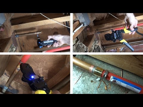 Replace damaged Copper pipe with PEX pipe  Part 2