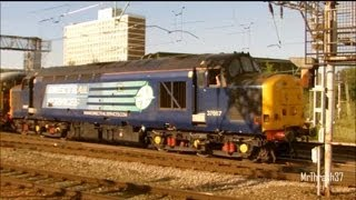 (HD) 37682 Whines at Crewe on 3Z03 Derby RTC - Carlisle Wapping 19/08/2013