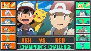 Ash vs. Red (Pokémon Sun/Moon) - Champion's Challenge