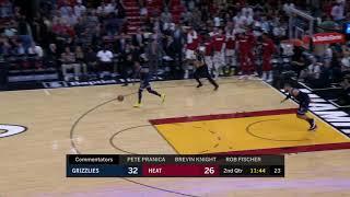 Derrick Jones Jr. Full Play 10/23/19 Memphis Grizzlies vs Miami Heat   Smart Highlights Video