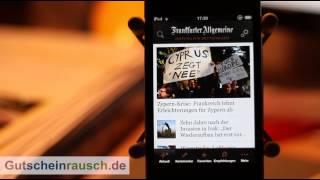 F.A.Z. App im Test auf Gutscheinrausch.de