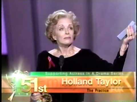 Holland Taylor wins 1999 Emmy Award for Supporting Actress in a Drama Series