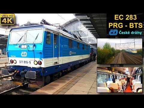 TRAIN EXPERIENCE | Prague - Bratislava | ČESKÉ DRÁHY EuroCity Train