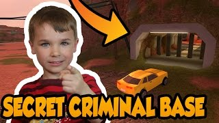 SECRET CRIMINAL BASE IN ROBLOX JAILBREAK ! BATMAN CAVE FOR PRISONERS