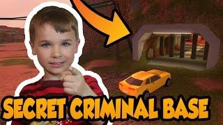 SECRET CRIMINAL BASE IN ROBLOX JAILBREAK ! BATMAN CAVE POUR PRISONERS