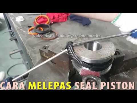 How to INSTALLING PISTON SEAL Hydraulic Cylinder || Cara Pasang Seal  Hidrolik