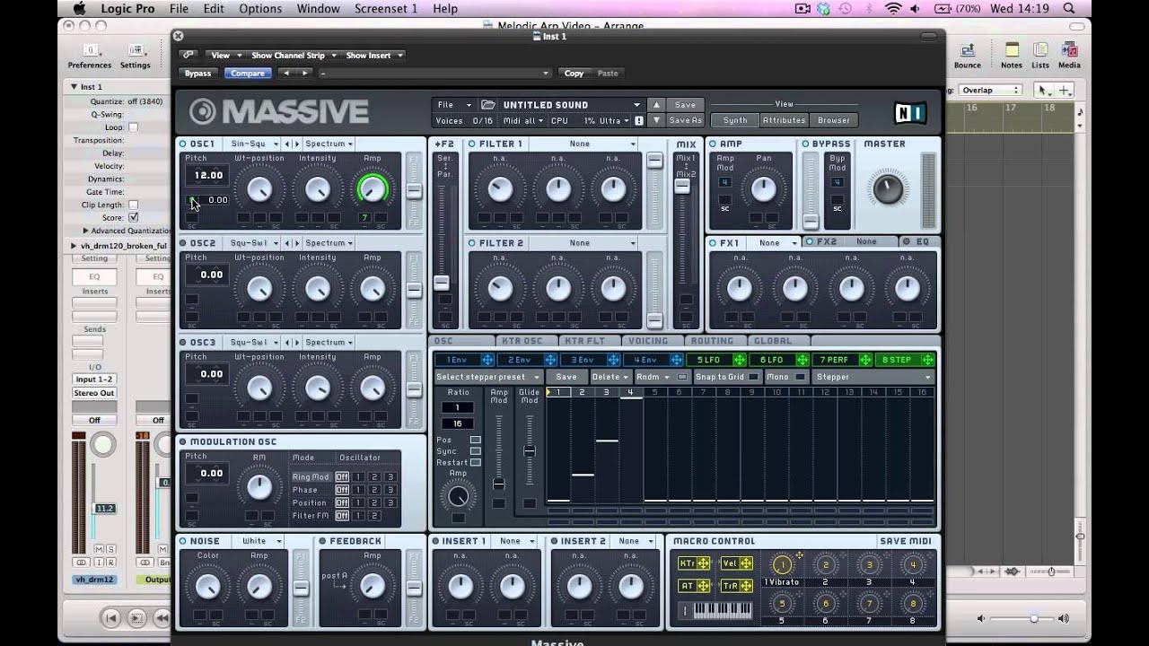 Melodic Arp Sound in NI Massive