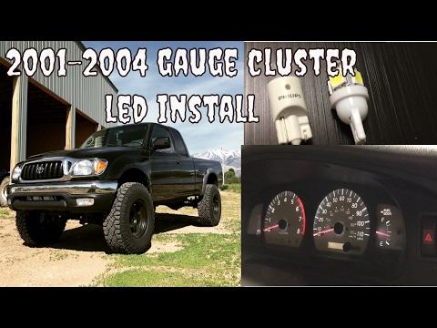 Toyota Tacoma 2001-2004 Led Gauge Cluster Install.