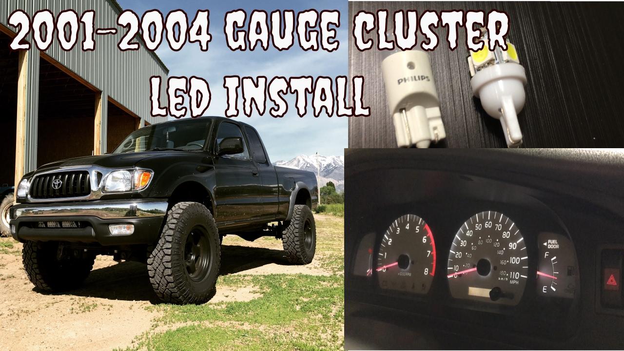 Toyota Tacoma 2001 2004 Led Gauge Cer Install