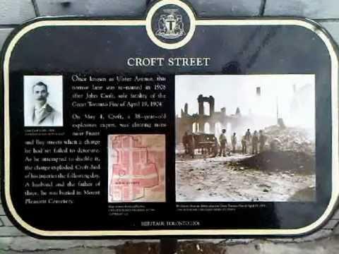 HiMY SYeD -- Toronto Fire of 1904 Mural Heritage Toronto Plaque Croft Street Toronto April 19 2011