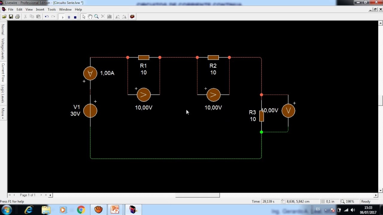 Circuito Paralelo Y En Serie : SimulaciÓn de circuitos serie y paralelo con livewire youtube