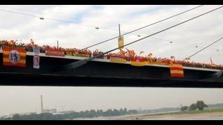 DEG & FANS auf der Rheinkniebrücke (06.10.2013)