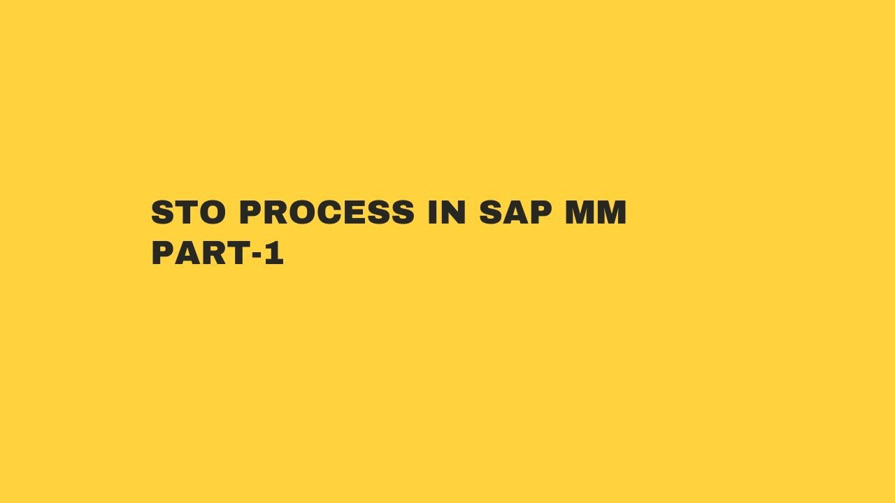 STO PROCESS IN SAP MM PART 1