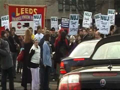 Leeds NUJ Strike Day 1 (19 02 2009)