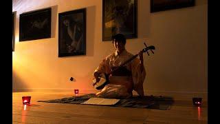Music by Japanese traditional Nagauta Shamisen -The title: Shinkyok...
