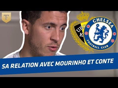 Hazard et sa relation avec Mourinho et Conte