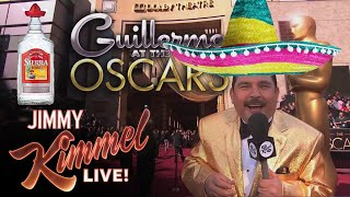 Guillermo drinking tequila at Oscars
