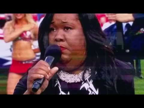Priscilla Upshaw Sings the National Anthem ((Tampa Bay Buccaneers)