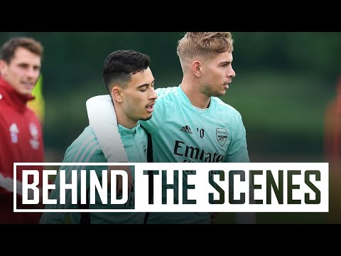 Hard work before Chelsea clash |  Behind the scenes at the Arsenal training center