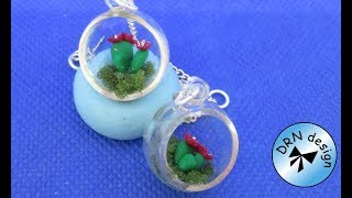 Miniature 1 to 12  - Glas Decoration With Catcus
