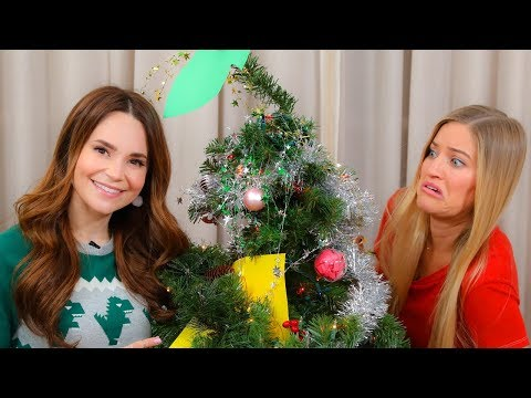 Blindfold Christmas Tree Decorating Challenge with Ro!