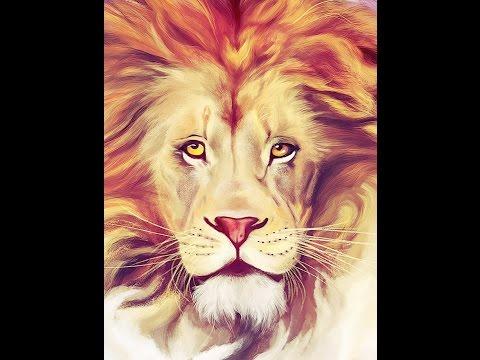African Lion Spirit -- Digital Art Speedpainting (Full HD)