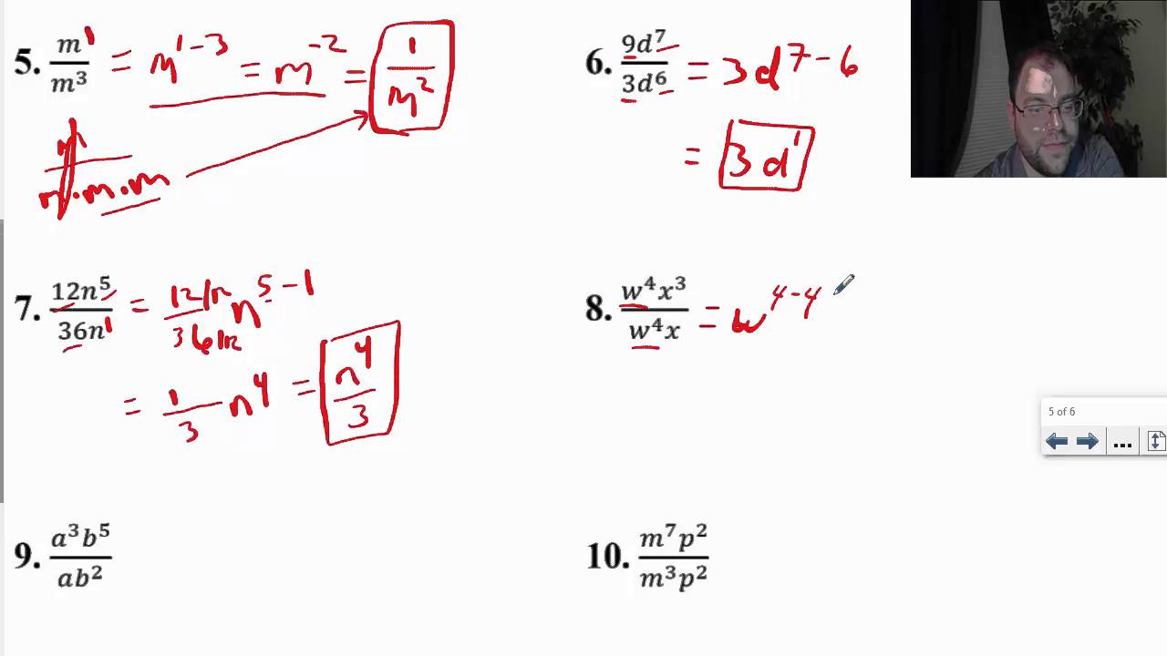 Division Property Of Exponents Worksheet Davezan – Division Property of Exponents Worksheet