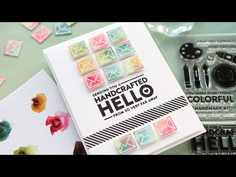Repeated Watercolor Images - Simon Says Stamp February 2018 Card Kit