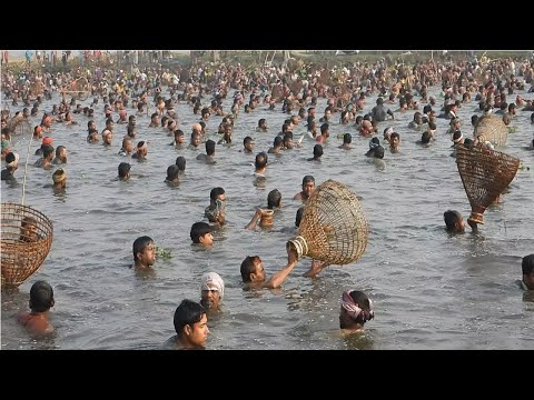 STRONGEST FISH Vs STRONGEST PROFESSIONAL FISHERMEN Together PRIMITIVE FISH TRAP