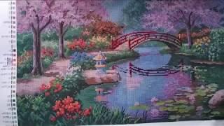 "№ 1. Вышивка бисером. Картина ""Японский сад"". Первое знакомство."