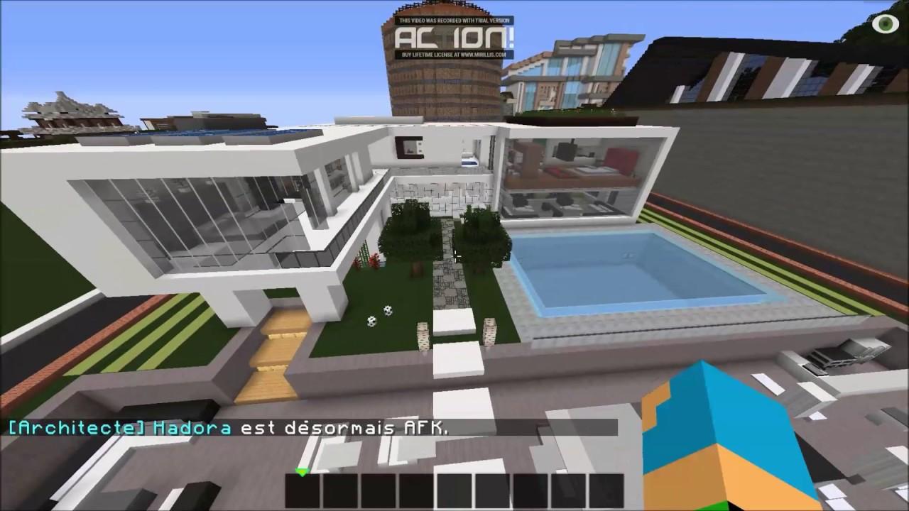 Visite #5/ maison moderne de ville minecraft