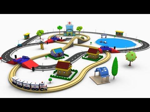 Train Cartoon - Trains for kids - Toy factory Cartoon - Cartoon - Train