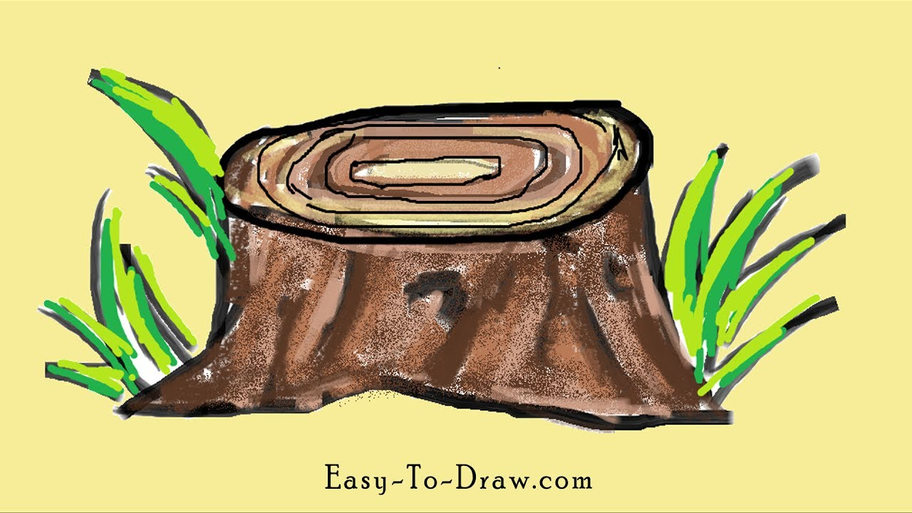 How To Draw Cartoon Tree Stump For Kids Easy To Draw Com Most relevant best selling latest uploads. how to draw cartoon tree stump for kids