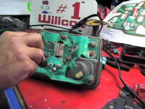 1979 corvette dash wiring diagram 3d heart cross section willcox installing a printed circuit and small gauge testing 1977 1982 youtube