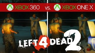 Left 4 Dead 2 Comparison - Xbox 360 vs. Xbox One X
