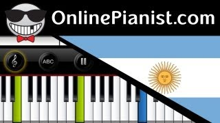 Argentina National Anthem - Himno Nacional Argentino - como tocar - Piano Tutorial & Sheet