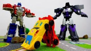 Видео для мальчиков: Кто сильнее? Автоботы или десептиконы?