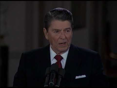 President Reagan's 40th Press Conference in the East Room on March 19, 1987