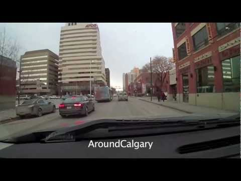 Driving in Calgary SW thru downtown to NW