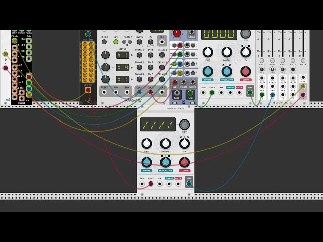 miRack - Tutorial: Arp effect using Chord and sequential switch modules