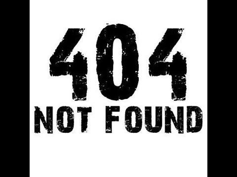 Ошибка 404 Not Found или как с ней бороться