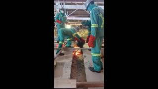Glass Furnace Hot Repairs - Expansion Joint Sealing