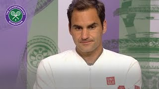 Roger Federer Semi-Final Press Conference Wimbledon 2019