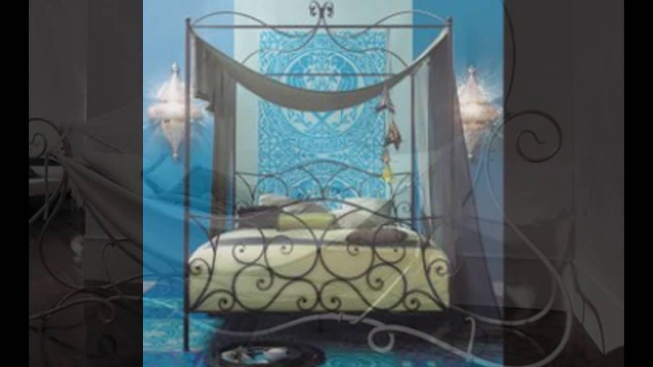 Wrought Iron Canopy Bed Youtube