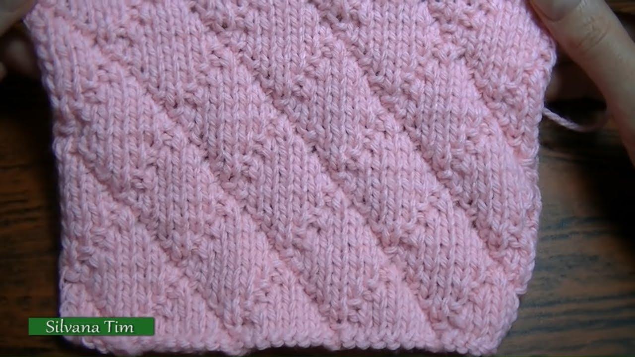 Punto puntada rombos con puntos derecho y rev s tejido - Puntos para calcetar ...