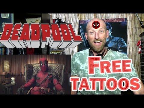 DEADPOOL 2 - Brazil Comic Con - Free Tattoos - REACTION
